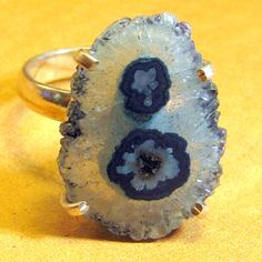 Blue Quartz Ring Sterling Silver Vintage by EponasCrystals on Etsy, $69.95