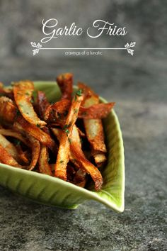 Garlic Fries | Cravings of a Lunatic | Super easy to make and absolutely delicious!