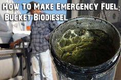 How To Make Emergency Fuel: Bucket Biodiesel