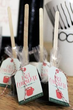 Free printables.. Hot Chocolate Party favors.