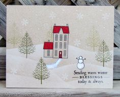 WINTER HILLS by mjs1033 - Cards and Paper Crafts at Splitcoaststampers