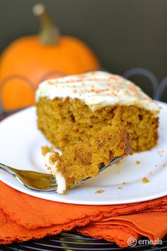 Pumpkin Cake Bars & a Full Fallish Halloween Menu