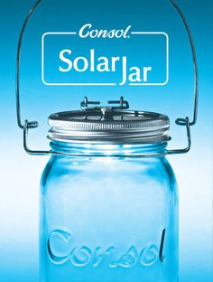 The Consol Solar Jar harnesses the power of the sun to provide a lovely warm glow that lasts up to six hours