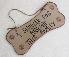 words for norah!! :) Shelter Dog Rescue Sign on Recycled Wood by GreenGypsies on Etsy, $15.00