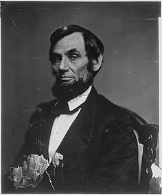 Abraham Lincoln, ca 1860 -1865, photographed by Matthew Brady