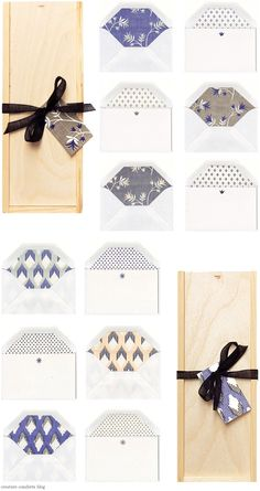 boxed stationery sets $48 each