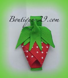 Strawberry Clippies no tutorial just idea
