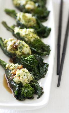 Shrimp Stuffed Broccoli Rabe