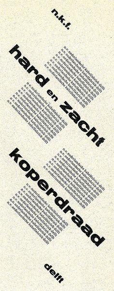 Advertisement, designer Piet Zwart 1930.