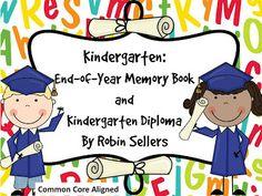 Sweet Tea Classroom: Kindergarten Graduation Diplomas and Kindergarten Memory Book