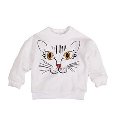 Mini Rodini Cat Sweatshirt // poppyscloset.com