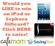 Enter To Win An iPad mini And A $ 100 Sephora Gift Card!