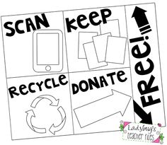 Ladybug's Teacher Files: Monday Made It: Cleaning & Organizing Signs