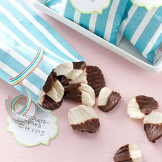 Chocolate-Covered Chips Recipe from Taste of Home -- shared by Marcille Meyer of Battle Creek, Nebraska