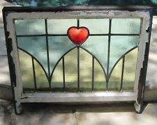Antique c1900 One English Estate Victorian Heart.