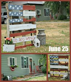 rustic 4th of July decor