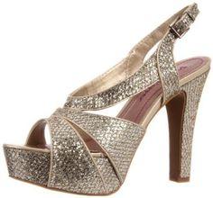gold ladies shoes $65.00