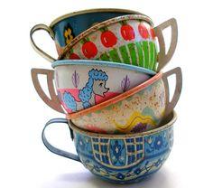 Vintage Toy Tea Cups
