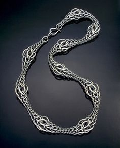 Julia Lowther - chain mail necklace.  Now this is interesting...not the everyday.