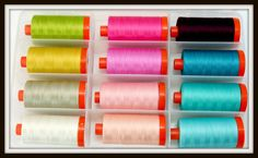 Quilting-Heart #Aurifil thread collection by Pat Bravo