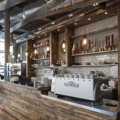 shop, glasgow, coffee interior design, coffee cafe interior, kitchen, subway tiles, restaurants, rustic wood, bar designs