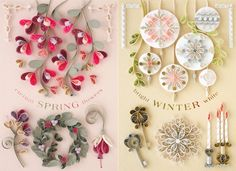 Lovely Quilled Symbols of Spring and Winter