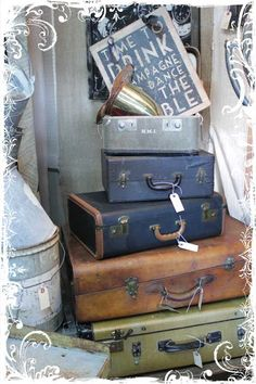 Great old suitcases