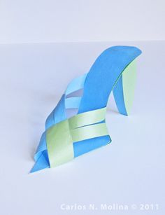 Paper High Heeled Shoe