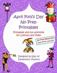 April Fool's Day No Prep Printables: Not Just for the Sub Tub!