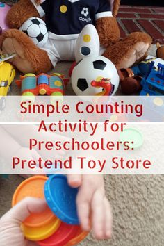 Counting with Preschoolers: Pretend Toy Store