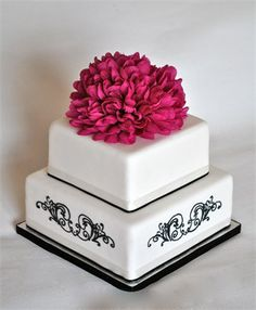 Pink & Black Piping! - Peek-a-boo Cakes
