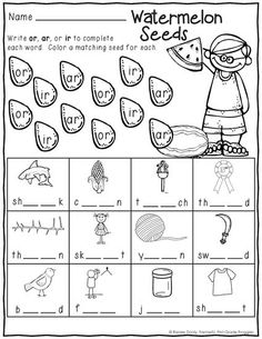 Summer Print and Do math and literacy no prep printable pack