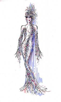 Cher sketch by Bob Mackie