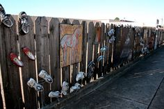 Not looking to do the shoes thing, but love the art on the fence
