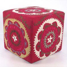 Original Suzani Ottoman XI, $345, now featured on Fab.