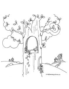 Fairy House Coloring PicturesHousePrintable Coloring Pages Free