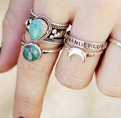 boho rings, grunge rings, boho style jewelry, boho jewelry, boho accessories, malas boho style, bohemian style summer, womens fashion accessories, boho jewels