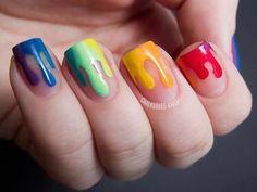 drip dry rainbow nails
