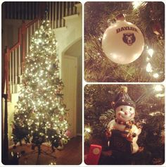 """The only ornaments that matter."" A #Baylor Proud Christmas tree (via hmcinturff on Instagram)"