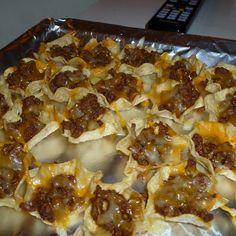 Mini MexicanTostada Appetizers