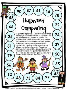 HALLOWEEN MATH GAMES FIRST GRADE - 14 Printable Halloween Math Games $