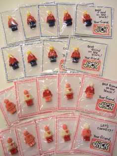 Lego guy candy valentine - either candy or mini figs