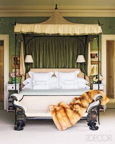 The Best of Tradition - ELLE DECOR canopi, interior design, design homes, dream bedroom, mile redd, design interiors, canopy beds, bedrooms, modern hous