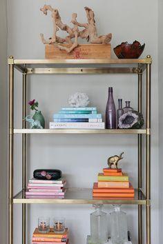 10 Tricks for Styling Your Bookshelves  Read more - http://www.stylemepretty.com/living/2014/02/03/10-tricks-for-styling-your-bookshelves/