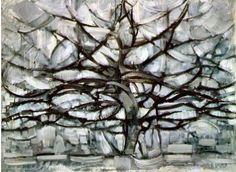 """Piet Mondriaan """"Grey Tree"""" 1909-1910"""