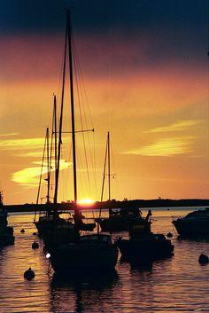 Sunrise over Plymouth Bay, Massachusetts.