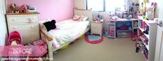 Girls Bedroom Transformation, messy to organised