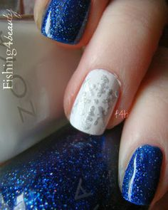 Fishing4Beauty: Holiday Nail Art Challenge--SNOW