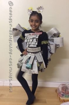 Easy, Inexpensive and Last-minute Girls Newspaper Fairy Costume... Coolest Halloween Costume Contest
