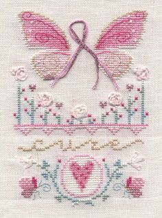 Butterfly Wings - (free pdf pattern & key - click link at bottom)